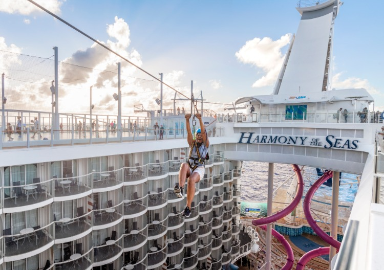 Royal Caribbean zip line