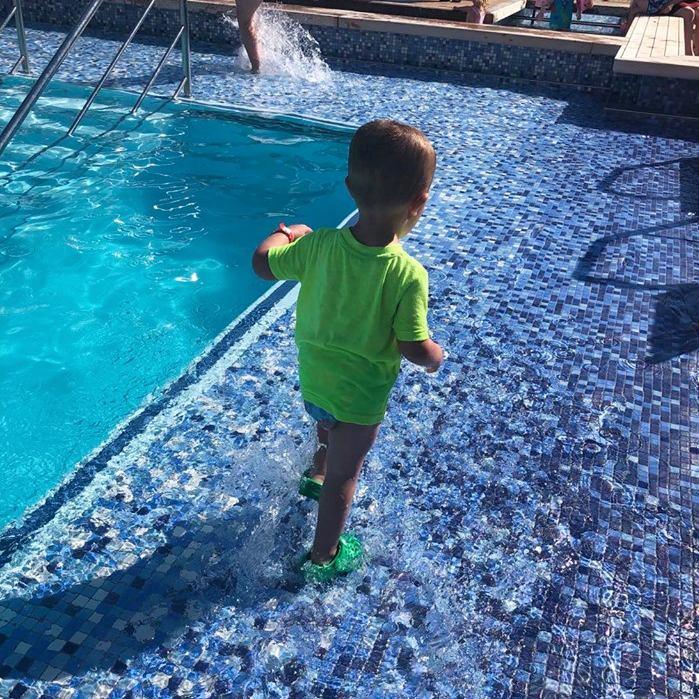 Swim diaper in cruise ship pool