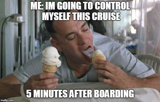 cruise meme about controlling your diet