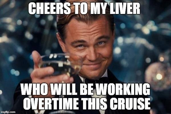 cheers to my liver cruise meme