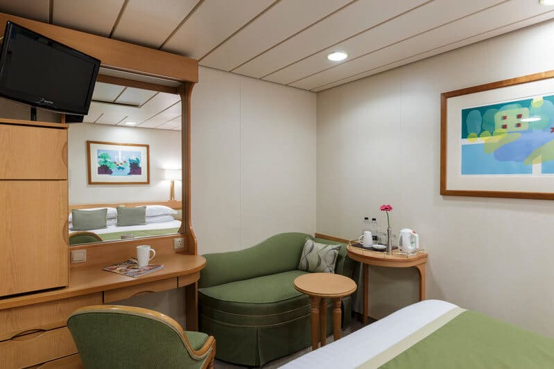 Inside cabin on Aurora