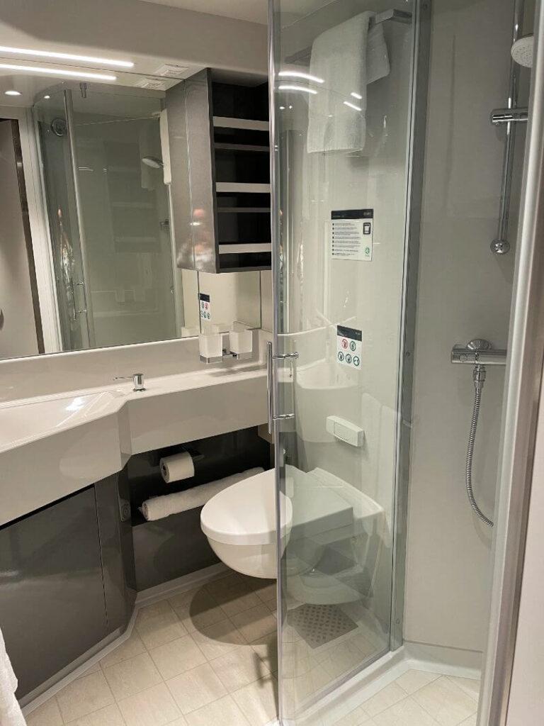 MSC Virtuosa inside cabin bathroom