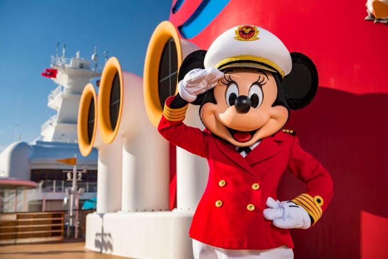 Minnie Mouse on a Disney cruise ship