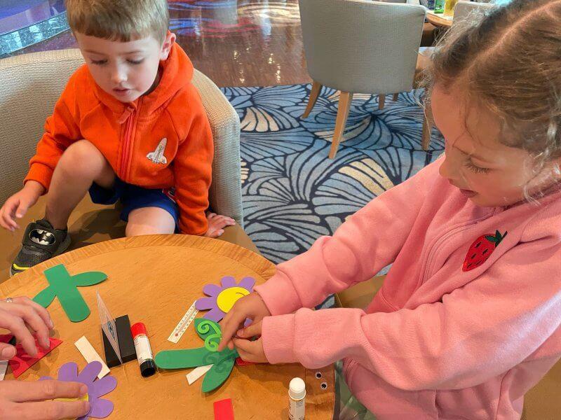 Family crafts on Disney cruise