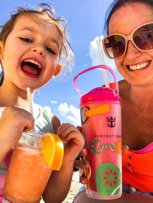 Enjoying the drinks package at CocoCay