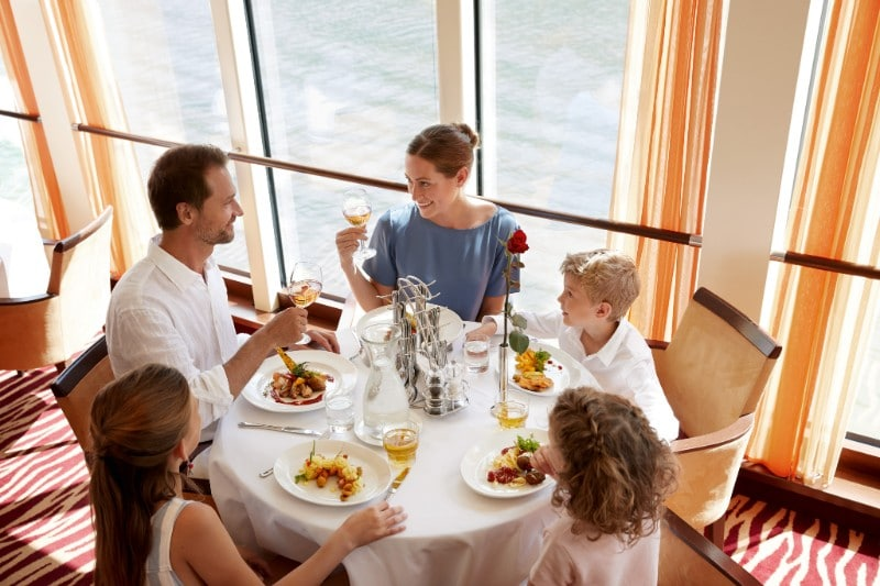 family dining on A-ROSA river cruises