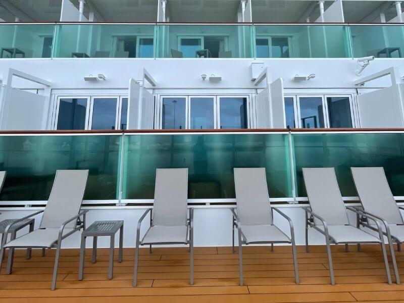 Promenade Deck Balcony Cabins on Iona