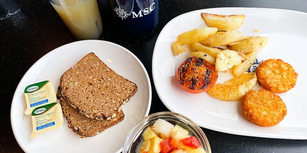 MSC Cruises vegan food