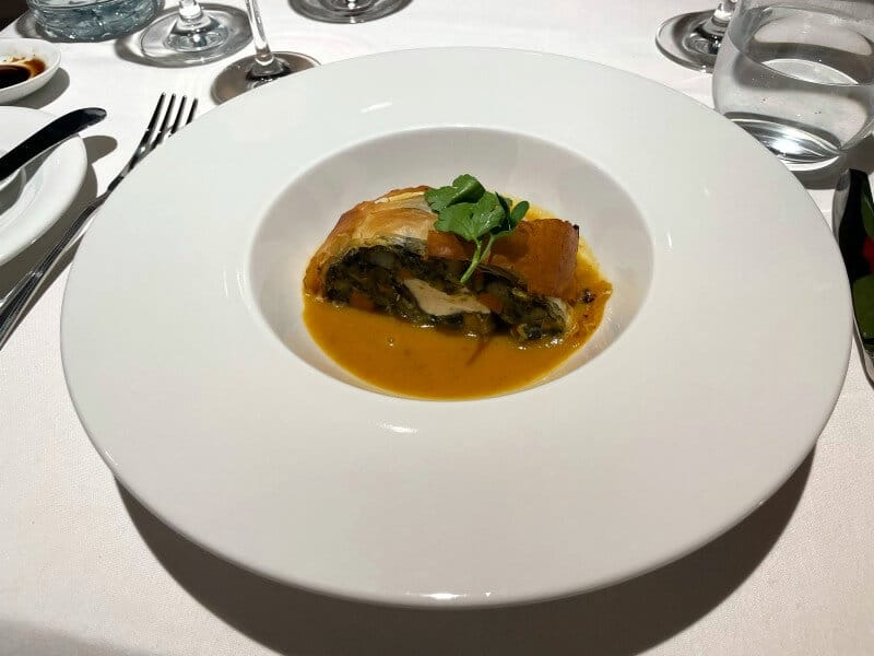 main course in main dining room on MSC Cruises