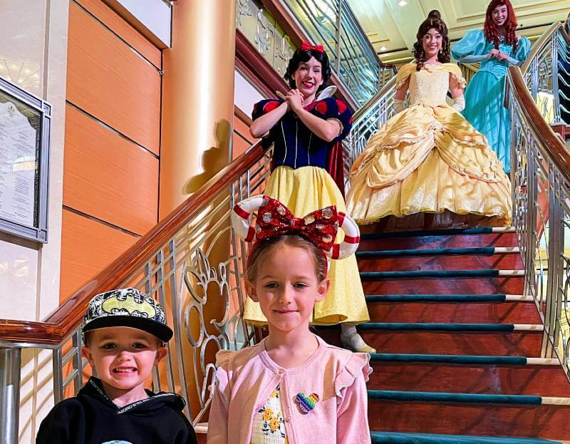 Meeting Disney princesses in the Atrium