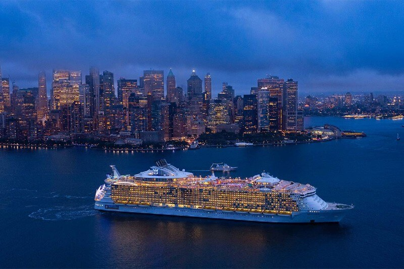 Oasis of the Seas cruising from New York
