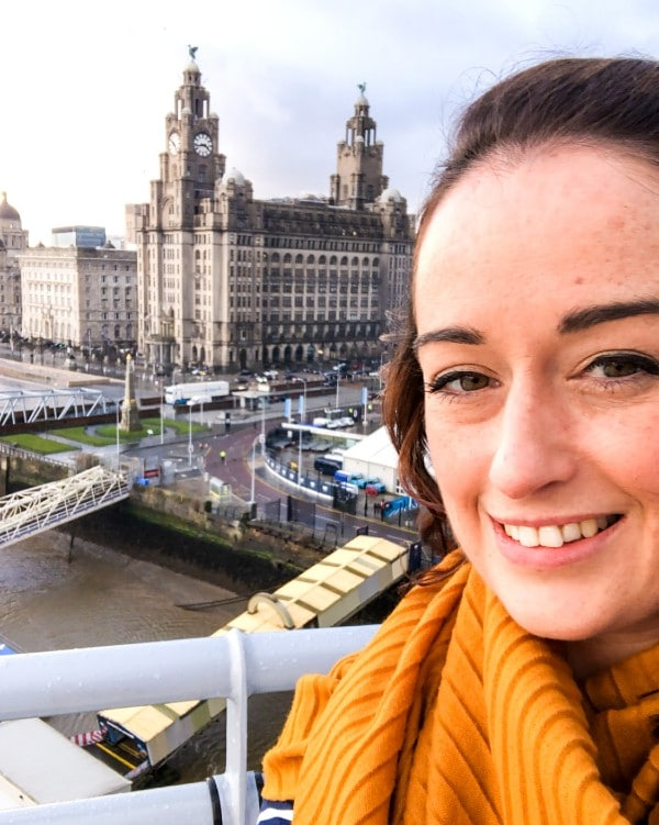 Me on a cruise ship in Liverpool