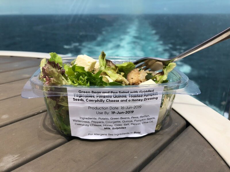 P&O Cruises salad from Grab & Go