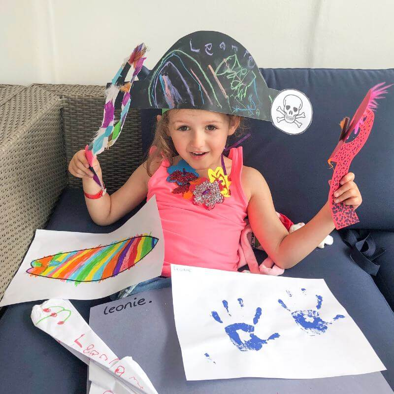 arts and crafts in P&O Cruises kids' clubs