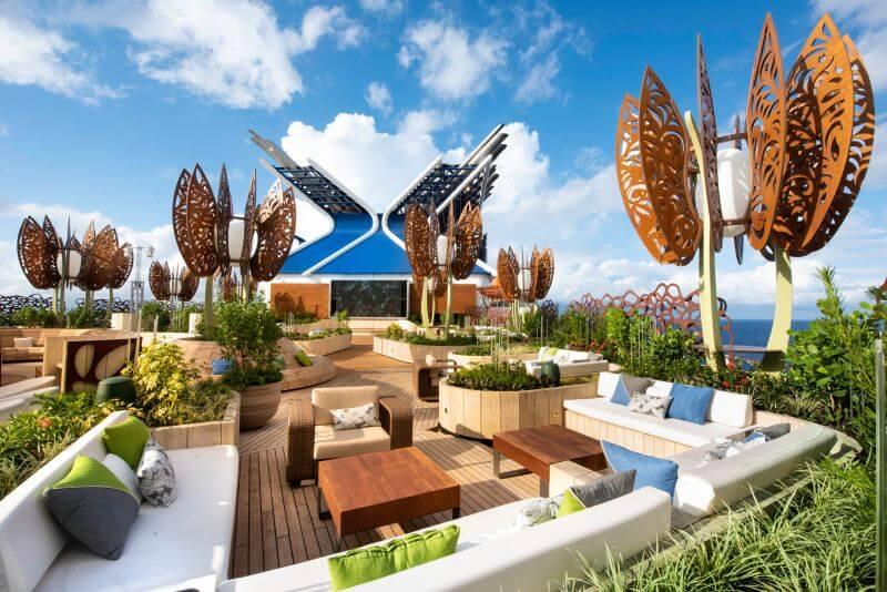 Rooftop garden on Celebrity cruises