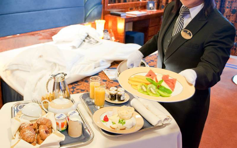 MSC Cruises room service breakfast