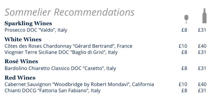 MSC Cruises wine recommendations