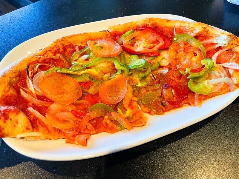 MSC Cruises vegan pizza