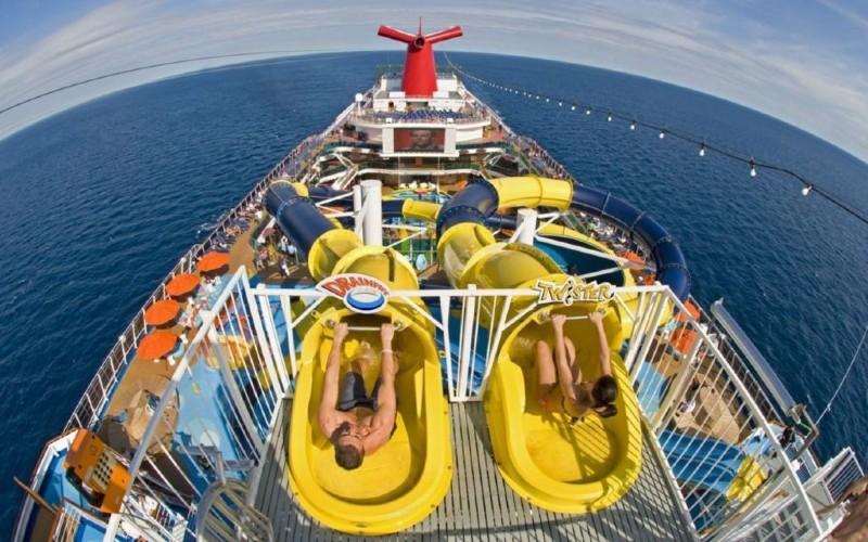 Carnival cruise ship slides
