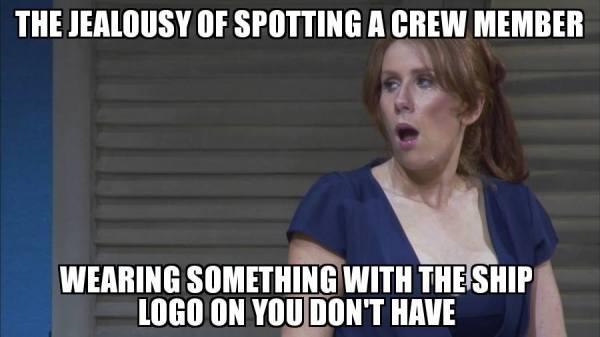 crew member uniform cruise ship meme