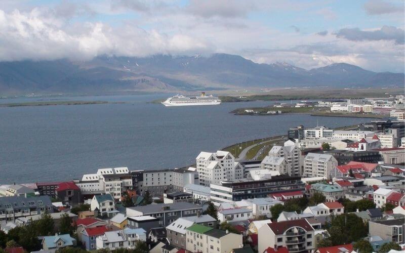 Cruise ship in Reykjavik, Iceland