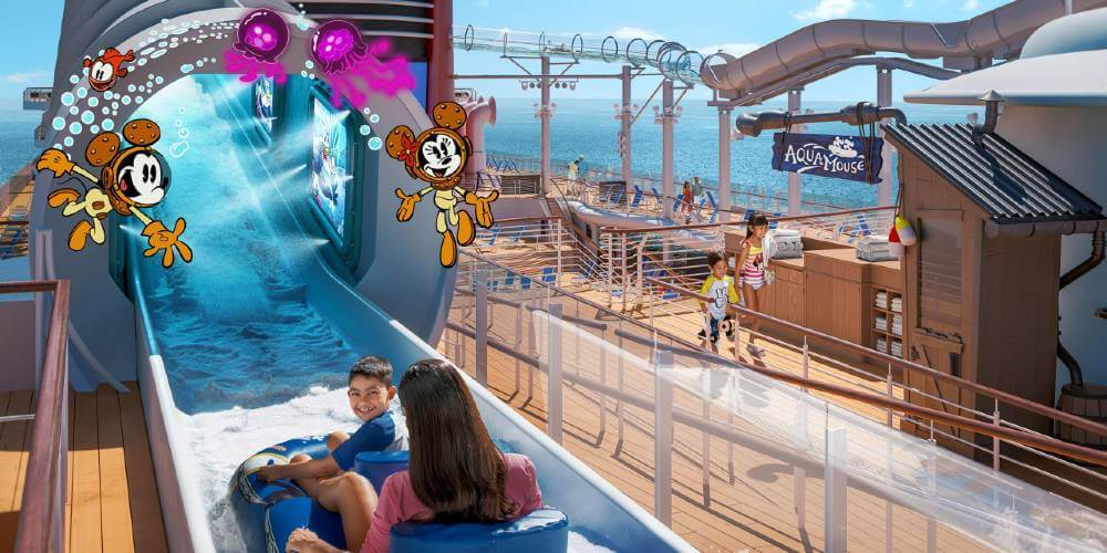 Disney Wish AquaMouse water slide