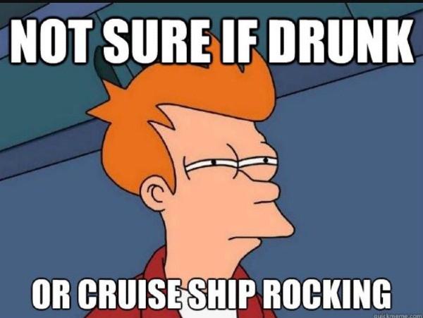 drunk cruise ship rocking meme