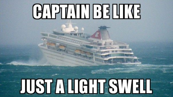 just a light swell cruise ship meme