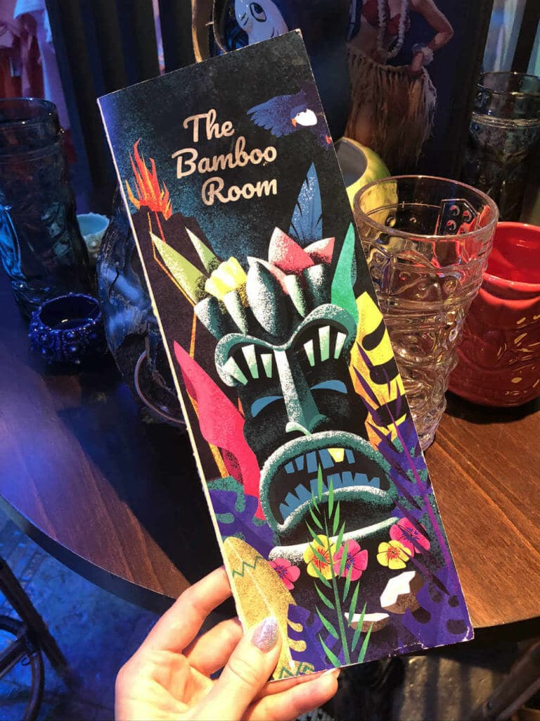 Royal Caribbean Bamboo Room menu