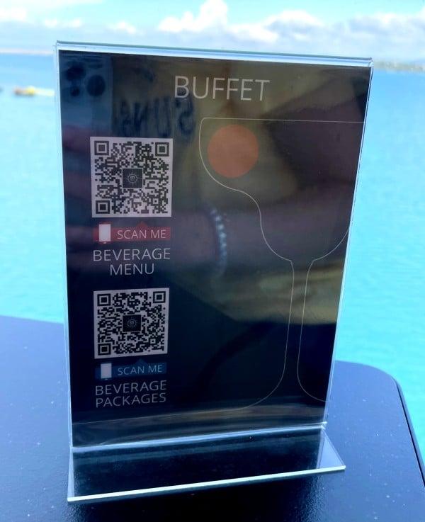 MSC Cruises QR code scanner for online menus