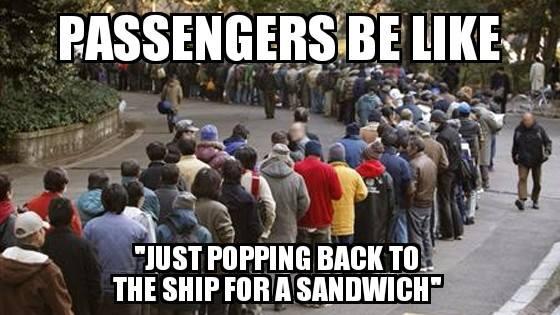 passengers cruise meme